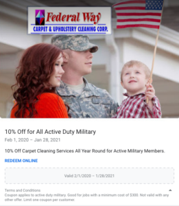10% Off Active Duty Military